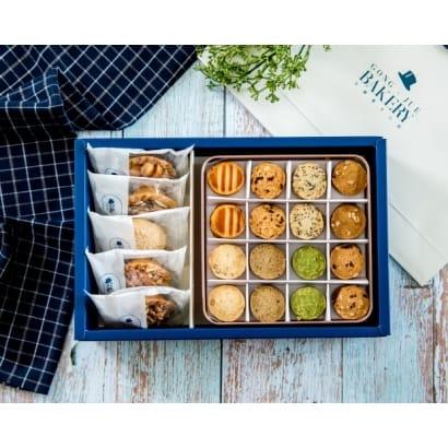 3K禮盒(綜合豆塔4+千層鳳梨酥1+精緻玫瑰金鐵盒1)$450元