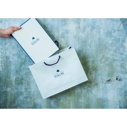 藍底米白蓋禮盒